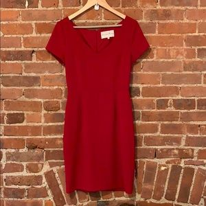 Charles Henry Red Shift Dress